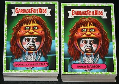 2019 Garbage Pail Kids Revenge Of Oh The Horror-Ible 200 Card Green Spatter Set