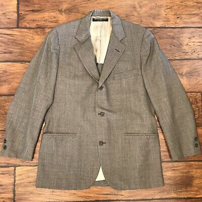 VTG Brooks Brothers 346 Vented Blazer Gray Stripe 3-Button Wool Suit Jacket 40R