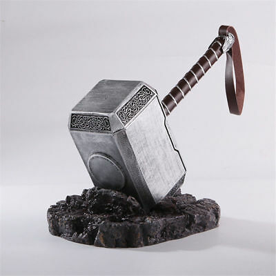1:1 THE Avengers Full Solid Thor Hammer /Stand Base Replica Cosplay Prop Mjolnir