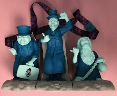 Disney Haunted Mansion 50th Three Hitchhiking Ghosts Popcorn Bucket Sipper Set