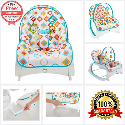 Infant To Toddler Rocker Bouncer Seat Baby Chair Sleeper Swing Toy Portable