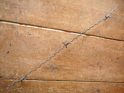 GLIDDENS 4-PT COIL WRAP BARB on CORRUGATED LINE CONCERTINA- ANTIQUE BARBED WIRE