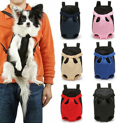 Small Pet Cat Puppy Dog Carrier Front Pack Hiking Backpack Head Legs Out S/M/L
