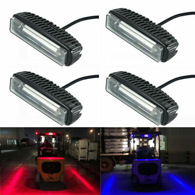 3 LED Forklift Truck RED/BlUE Line Warning Lamp Safety Working Light 10-80V
