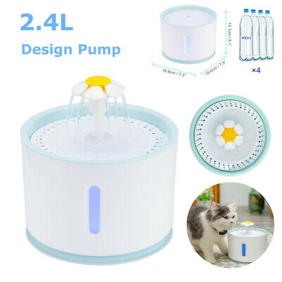 Cat Dogs Automatic Water Fountain Drinking Feeder Pet Bowl Dish Filter Dispenser