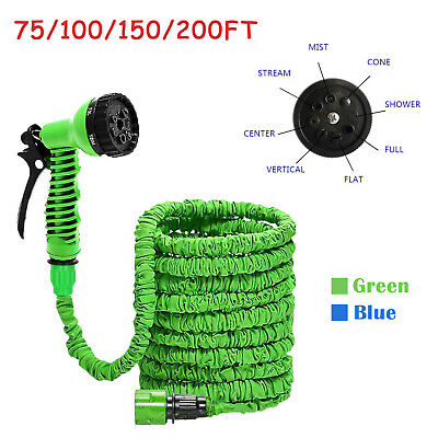 75/100/150/200 Flexible Garden Hose Pipe Expanding Fittings 7 Setting Spray Gun
