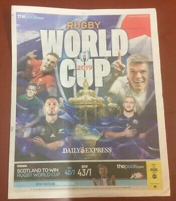The Daily Express Newspaper  Rugby World Cup Japan 2019 8 Page Guide.new.