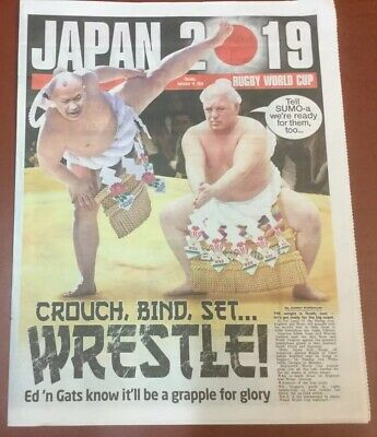 The Sun Newspaper Rugby World Cup Japan 2019 12 Page Guide Including Wallchart.