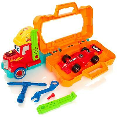 Take Apart Carry 'n Go Racing Truck & F1 Car Boys Construction Tool Set Toy