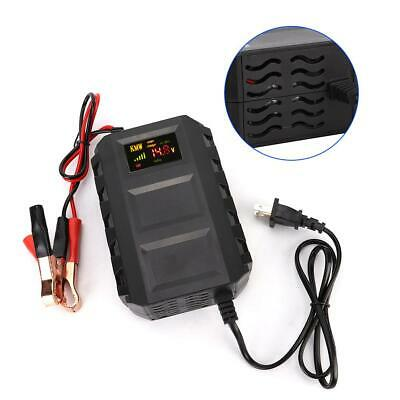 Car Battery Lead Acid Charger Automobile Motorcycle 12V 20A Intelligent US Plug