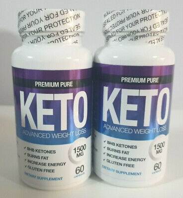 PREMIUM PURE KETO DIET 1500 WEIGHT LOSS - 60 CAPSULES x 2 STRONG KETOSIS AID