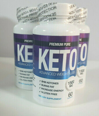 PREMIUM PURE KETO DIET 1500 WEIGHT LOSS - 60 CAPSULES x 3 STRONG KETOSIS AID
