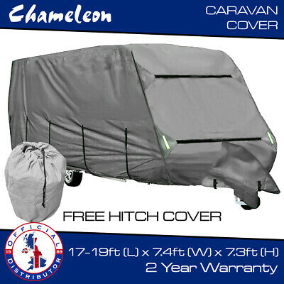 Free Hitch Cover Premium 4 Ply Caravan Cover 12-14ft HD Breathable