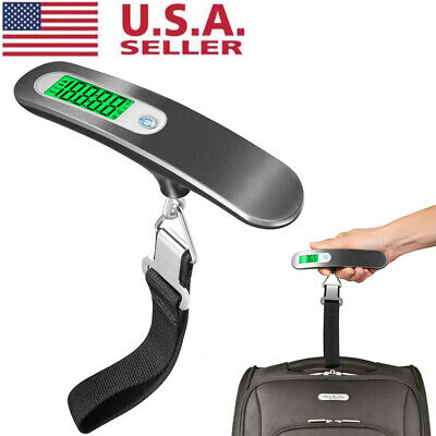 110lb / 50Kg Portable Travel Electronic Weight Hanging Luggage Scale LCD Digital