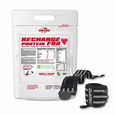 9,16€/kg BWG Bodywordgroup Recharge Protein 2500g + Ziatec Bandage Workout Fit