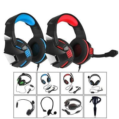 Wired Wireless Gaming Headset For PC Laptop Headphones With Microphone AE