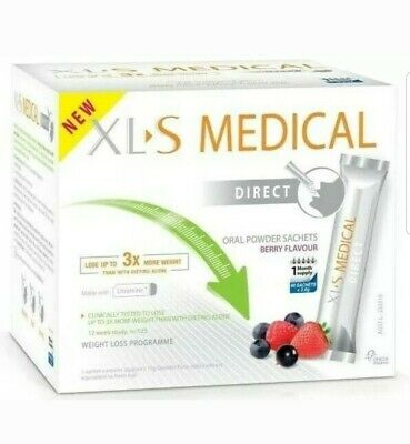 NEW XLS Medical Direct Fat Binder Sachets Berry Flavour 10 Sachets TOP VALUE ☆☆☆