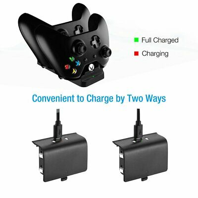 Dual Charging Dock Controller Charger+2pcs Rechargeable Battery for XBOX ONE YK