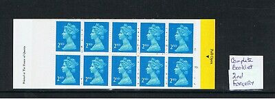 GB QEII DECIMAL MACHIN POSTAL FORGERY 2nd Class Quest type booklet of 10 #1272
