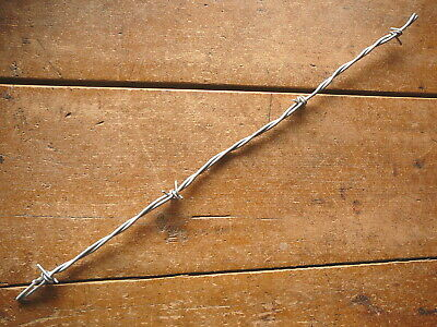 Burnell Brixner Aluminum Hook 4-Pt Barb Gray Plastic Lines - Antique Barbed Wire