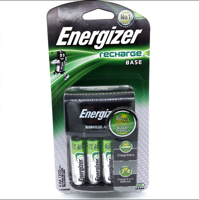 Energizer CHVC4 Recharge BASE & Includes 4X AA Rechargeable Batteries