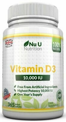 Vitamin D3 10000iu Soft Gel High Strength 365 capsules Vitamin D 10,000iu Vit d3