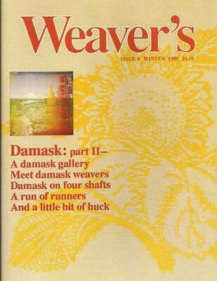 Weaver's magazine 4: DAMASK II ~ VERY RARE ~ out of print magazine
