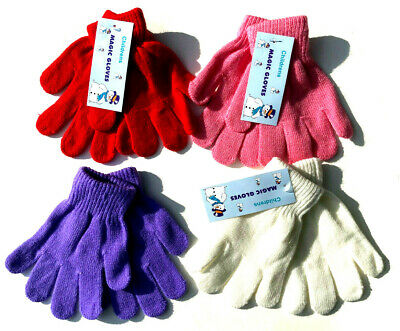 1-12 PAIR Kids Gloves  Magic Winter Warm Girls Boys Stretch Soft Children Unisex
