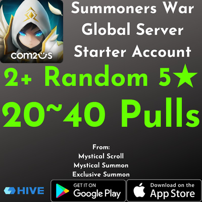 [Instant Code] Summoners War Double Nat 5 Starter Account 20-40 Free Summons
