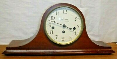 Vintage Seth Thomas 8 Day Tambour Westminster Chime Clock Desk, Mantle Working