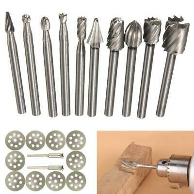 10Pcs Tungsten Carbide Metal Cutting Carving Grinding Burr Set For Dremal Tool