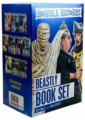 Horrible Histories 10 Book Box Set, Deary 9781407173115 Fast Free Shipping..
