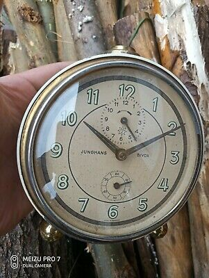 Vintage Rare  German  Junghans  Leisetick Alarm Clock Germany Original