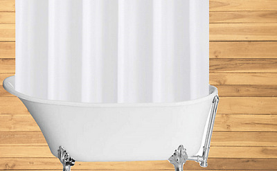 Clawfoot Shower curtain Hooks with Rollers//36 per bag//PL