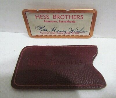 Hess Brothers Department Store Allentown Pa Vintage Metal Charge Plate Hess's #3