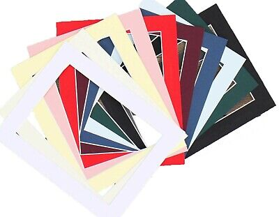 "Cardboard Picture Mounts to fit 12x8"" Photo Frame Various colours cut out sizes"