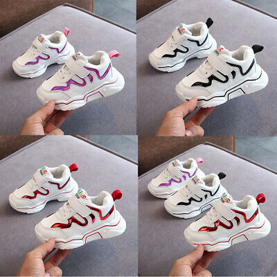 New Toddler Infant Kids Boys Girls Bling Breathable Sport Running Shoes Sneakers