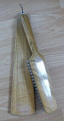 Vintage Wooden Clothes Brush with Wall Hanger