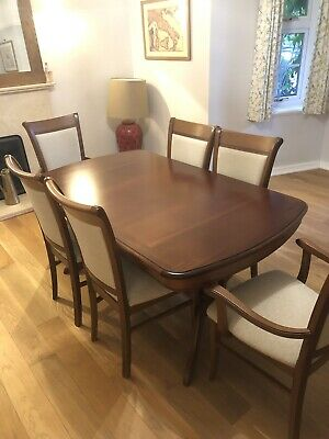 Marcoan Designed Mahogany Antique Style Extendable Dining Table & 6 Chairs