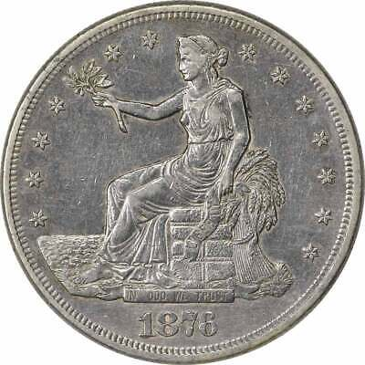 1876-S Trade Silver Dollar EF Uncertified