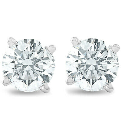 1 1/4 cttw Diamond Studs 14K White Gold IGI Certified Earrings