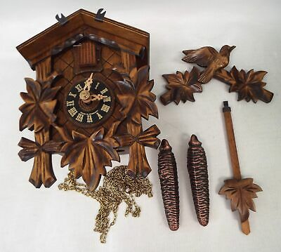 Vintage BLACK FOREST Germany Wooden Cuckoo Clock - Spares/Repairs - H16
