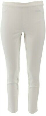 Isaac Mizrahi Petite Fit 24/7 Stretch Ankle Pants Bright White 10P NEW A239936