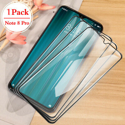 For Xiaomi Redmi Note 8 Pro FULL COVER Tempered Glass Screen Protector Film *LY