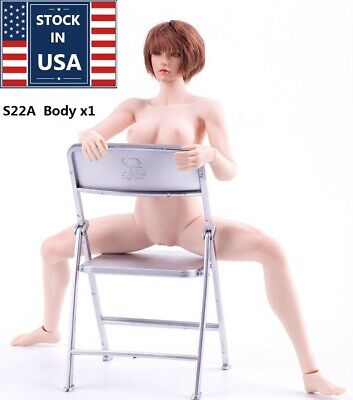 USA Phicen TBLeague Female Figure Body 1/6 S22A Pale Middle Bust Seamless Model