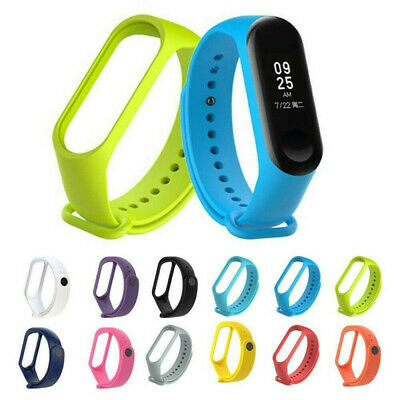 Fit For Xiaomi Mi Band 4 3 Adjustable Soft Silicone Strap Wristband Bracelet