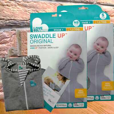 Love To Dream Swaddle UP, Gray, Size-Newborn,Small, Better Sleeping, Free Ship