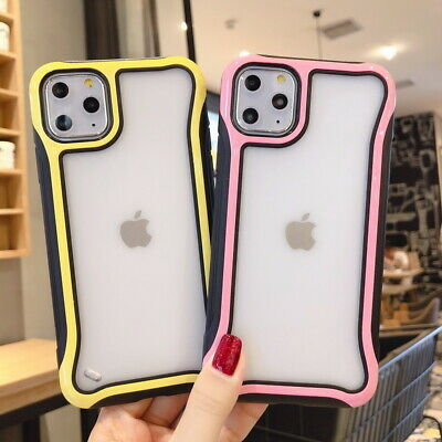 For iPhone 11 Pro Max XS XR X 8 7 Plus 6s Shockproof Matte Clear Hard Case Cover