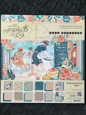 Graphic 45 Cafe Parisian Collection 12 X 12 Papercrafting 24 Sheets New