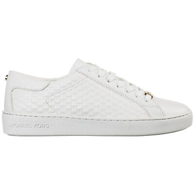 Michael Kors Scarpe Sneakers Donna In Pelle Nuove Colby Bianco 862